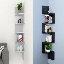 2/3/5 Tier Floating Wall Shelves Corner Shelf Storage Display Shelf Bookcase