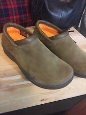 Pothia Women's Clogs Slip On Leather 37 Style 400 Rainer Dark Sand