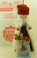 "Steinbach German Wooden Big Nutcracker ""White Santa� S877 New"