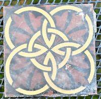 Antique Vintage Reclaimed Gothic Tile 15 x 15 x 2cm