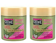 2 SMOOTH N SHINE MIRACLE BALM ALLEVE DRY SCALP COCONUT OIL FREE SHIPPING US RARE