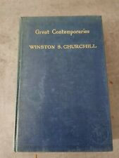 Great Contemparies 1937 1st Edition Winston Churchill Thornton Butterworth