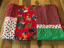 Handmade Christmas Quilt Throw Size