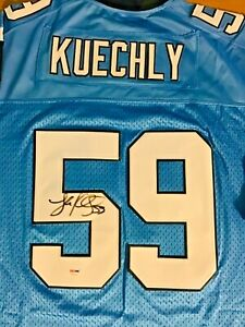 LUKE KUECHLY AUTO JERSEY SIGNED PSA DNA CAROLINA PANTHERS NIKE 52 XXL BLUE