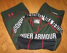 Under Armour Men's Shorts Mpz 3 Pad Integrated Girdle compression Green 2X Xxl