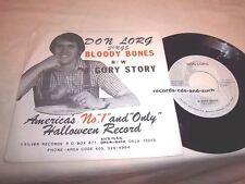 DON LORG-SINGS BLOODY BONES/GORY STORY NM/VG+ RARE VINYL RECORD 45+PS