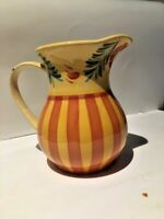 """SOUTHERN LIVING AT HOME GAIL PITTMAN SIENA 48 OZ PITCHER 7-3/4"""" TALL RED YELLOW"""