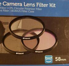 Polaroid 58mm 3 Piece Camera Lens Filter Kit 3 Filter Linsen +Tasche