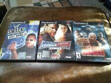 WWE SmackDown vs Raw 2009, Just Bring It, TNA Impact Ps2 Wrestling games lot cib