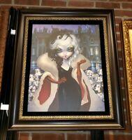 Disney WonderGround Gallery Cruella De Vil LE Framed Giclee Becket-Griffith