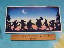 Grateful Dead Dancing Bears, Terrapins & Crow Moondance 4 x 8 Inch  Sticker