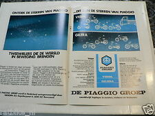 A083- POSTER PIAGGIO VESPA GILERA ADVERTISEMENT 1980  MOPEDS BROMFIETSEN STERREN