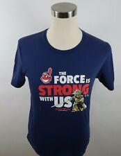 MLB Cleveland Indians Star Wars Yoda Boys SS Navy Blue T Shirt Fanatics Youth XL