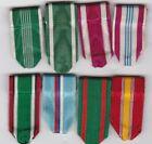 Lot of 8 x US Miniature Ribbons Marine Army Navy Air Force Coast Guard no medals