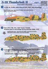 Print Scale Decals 1/48 FAIRCHILD REPUBLIC A-10 THUNDERBOLT II Part 1