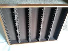 Vintage Wooden 100 Cassette Tape Holder Storage Rack Wall Mount Unbranded