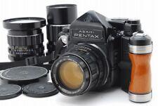 【N.MINT+】Pentax 6x7 TTL MLU 67, T 55m 105mm 200mm Lens Grip Strap from Japan#u28