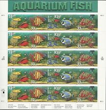 Scott # 3317-20 - 2008 - 33 Cent Aquarium Fish - MNH Sheet