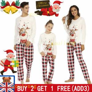 Christmas Elk Pyjamas Set Soft Family Matching Nightwear Sleepwear Xmas PJs Set-