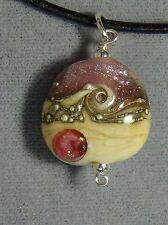 sand beach necklace pendant dichroic glass #172