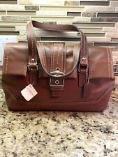 NEW COACH BROWN LEATHER CLASSIC SATCHEL HANDBAG-F12604-NEW WITH TAGS