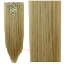 Full Head Clip in Hair Extensions 8PCS 18 Clips Real Long Natural as Human H97