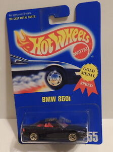 1992 Hot Wheels BMW 850i no.255***Gold Medal Speed 13581***Mint On Mint Card***