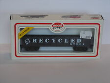 "40' Gondola ""Recycled steel"", black (8508) - H0 Gauge - Model Power"