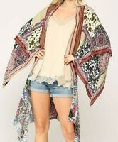 New Gigio By Umgee Kimono S Small Floral Paisley Patchwork Boho Peasant Festival