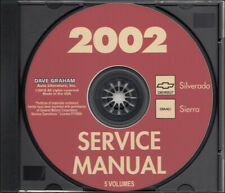 2002 Silverado Sierra Shop Manual Set CD Chevy Pickup Truck GMC Service Repair