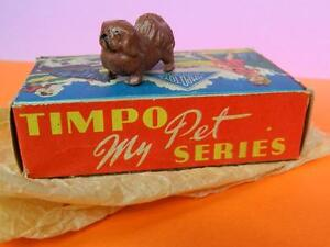 TIMPO LEAD MY PETS SERIES VINTAGE 1950s PEKINESE DOG MINT IN SUPER ORIGINAL BOX