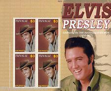 Elvis Presley 70th Anniv UMM Stamp Sheet (Tuvalu - Hat)