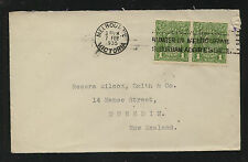 Australia 114 (2) on cover to New Zealand 1935