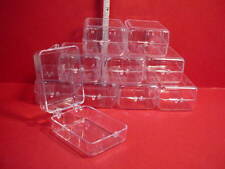 Dollhouse Miniature Clear Plastic Containers (10)  - #G0684