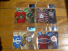 Lot of 4 MONTREAL CANADIENS LOGOS 100th ANN.Centennial 50¢ Cent 2009 COIN Canada