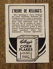 Publicité ancienne Kellog's Corn Flakes,1937  advert