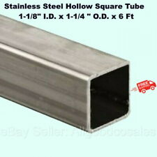 Stainless Steel Hollow Square Tube 1 18 Id X 1 14 Od X 6 Ft Long 304