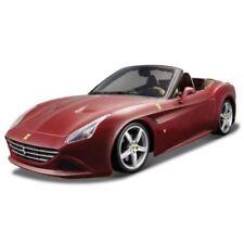 Coche deportivo de automodelismo y aeromodelismo color principal rojo de escala 1:18
