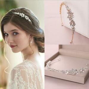 3cm High Crystal Side Tiara Crown Wedding Bridal Party Pageant Prom 2 Colours
