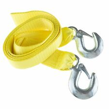 Stalwart Tow Rope 12 Ft Yellow 6000 Lb 3 Ton Capacity