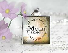 "Custom Memory of Mom Center of Universe Pendant Charm 1"" Setting Family Memorial"