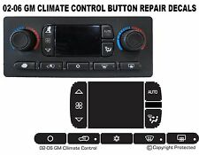 A/C Repair Kit Button Dash AC Replacement 2002-2006 fits GM Chevy Decal Stickers