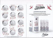Jean Paul Gaultier 12 x 10 euros 2017,VAGUE 1 + 2 x 50 euros Colorisé et Normale