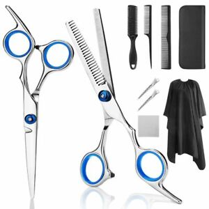 Professional Hairdressing Scissors Kit Hair Cutting Tail Comb Set With Cape