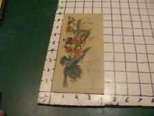 vintage Print -- 1921 Religious image, cross and flowers;