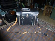 Vintage COAST CAMERA BAG Black Faux Leather W/ Leather Straps Japan VG !