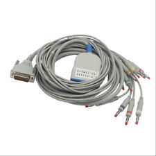 EKG Cable with Integrated 10 Leadwires for Schiller AT3 IEC Banana 4.0