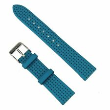 Leather Blue Hollow watch strap for men 18mm leather Watch Band Casual