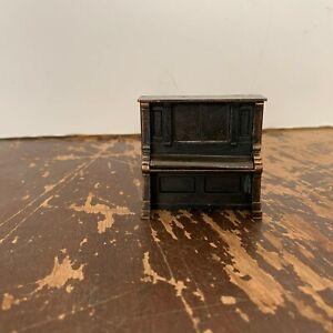 Vintage 1976 Durham Industries Die Cast Metal Miniature Piano