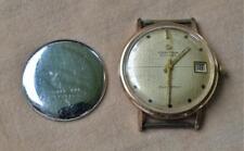 VTG Certina Blue Ribbon 27J Cal.25-651 Date Automatic Gold Plt Men's Watch Works